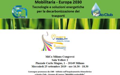 Mobilitaria – Europa 2030. Tecnologie e soluzioni energetiche per la decarbonizzazione dei trasporti
