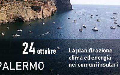 """""""La pianificazione clima ed energia nei comuni insulari"""" – Workshop Palermo 24 Ottobre"""