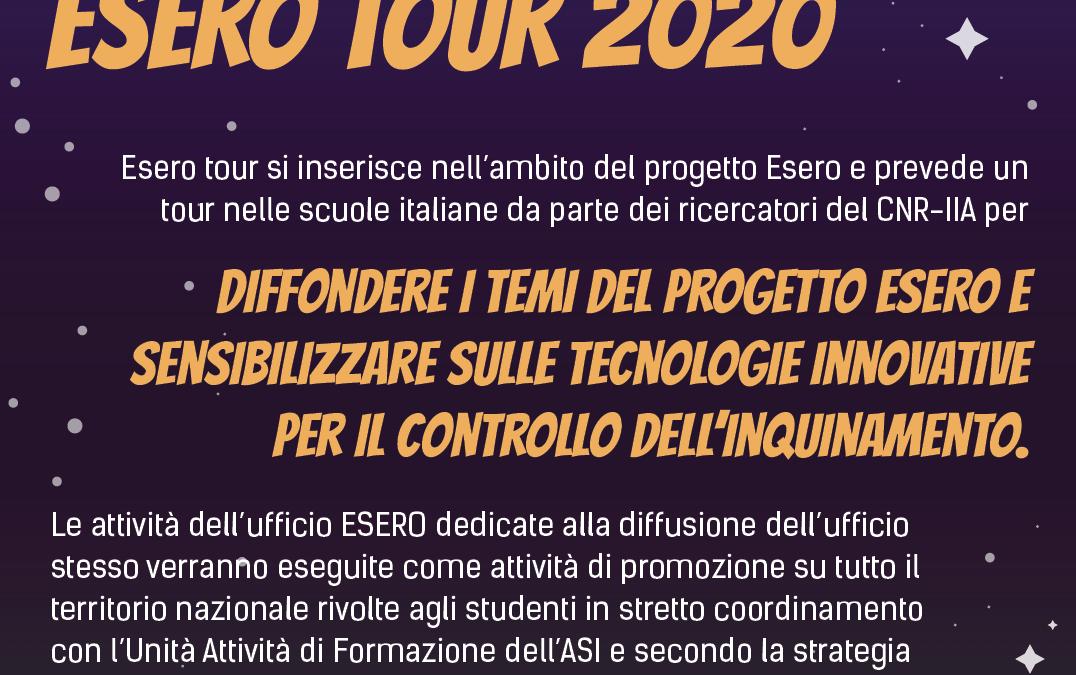 Al via l'ESERO TOUR 2020